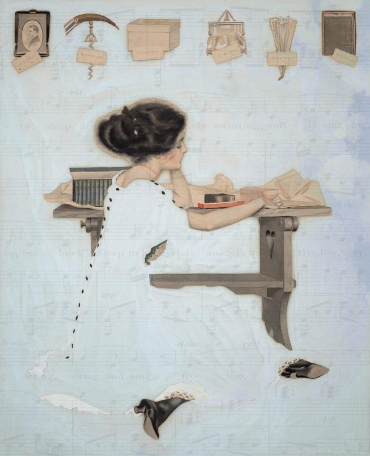 vintage-woman-sheet-music